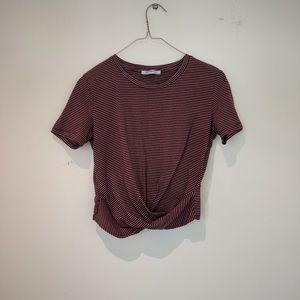 ⭐️donating soon⭐️Pink & Blue Zara Striped Crop Top
